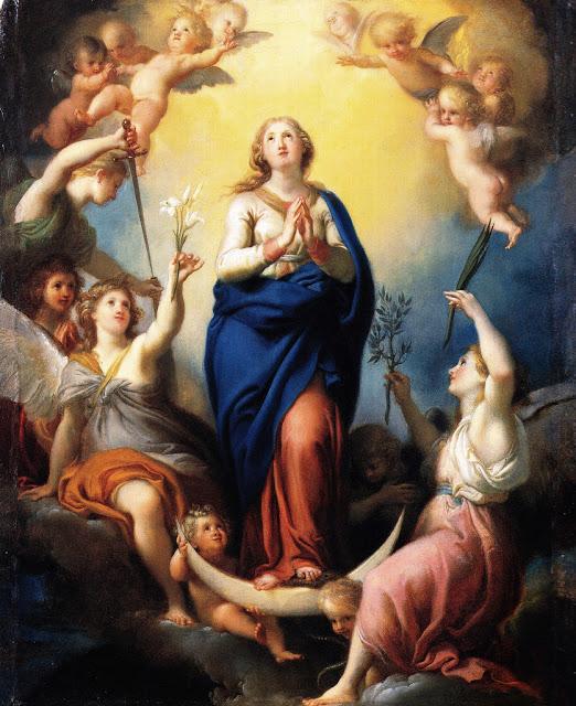 A Imaculada Conceição de Maria por Antonio Cavallucci (1790)