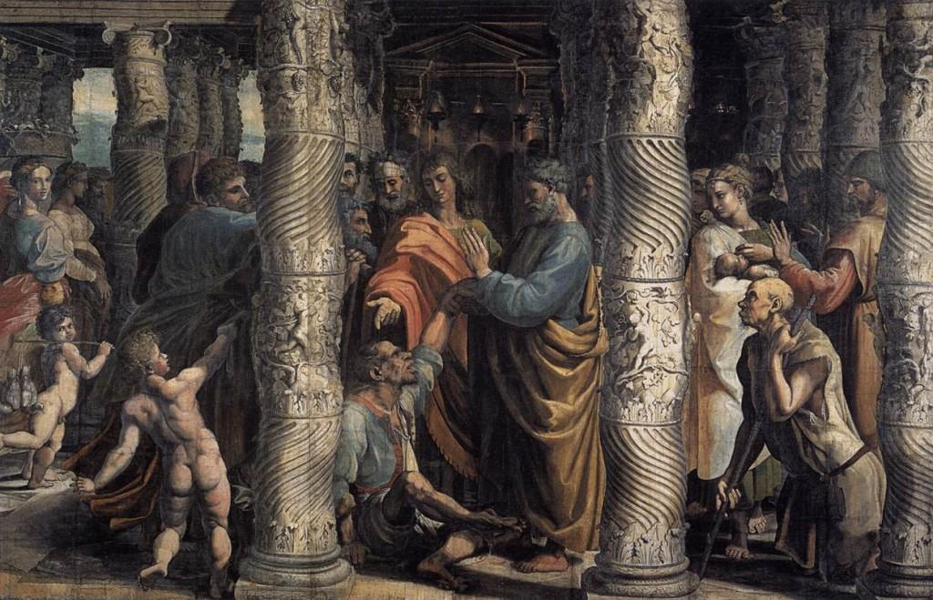 A cura do Coxo, primeiro milagre de São Pedro