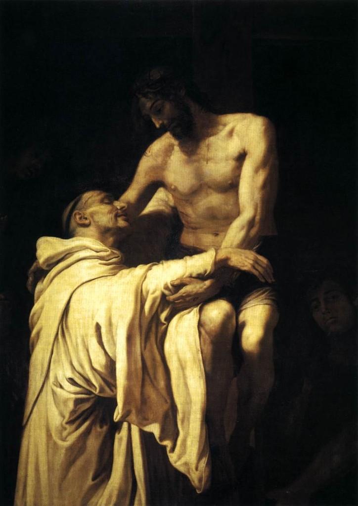 Cristo abraçando São Bernardo (Francisco Ribalta)