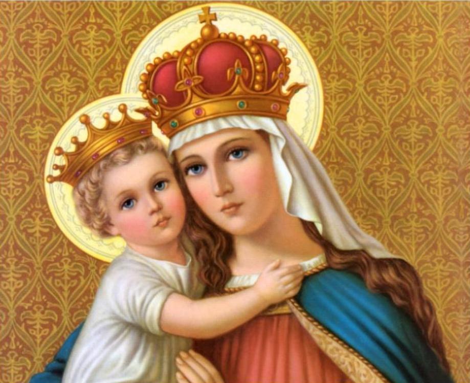 Jesus Menino e Nossa Senhora