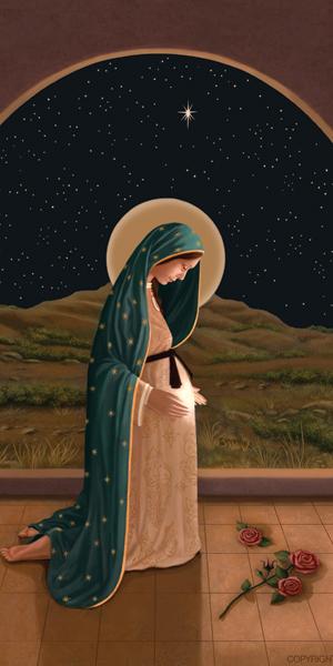 Jesus ainda no seio da Virgem Maria