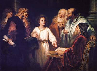 Menino Jesus com os Doutores no Templo