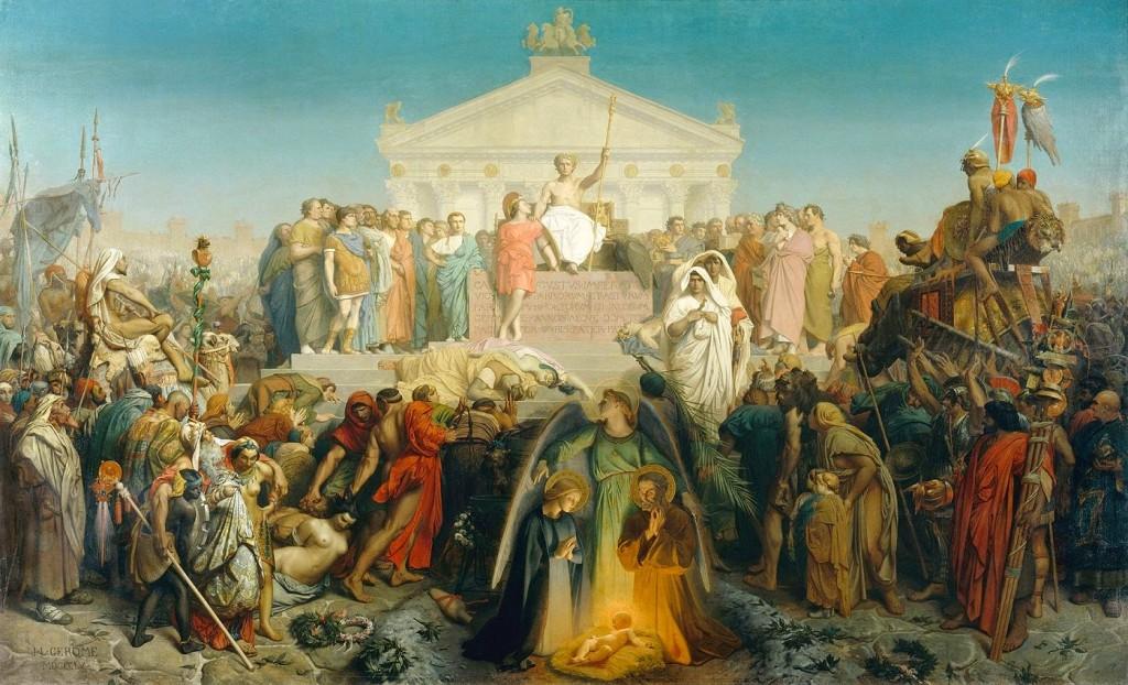 Plenitude dos Tempos: Nascimento de Cristo termina com o mundo Pagão (Jean-Léon Gérôme, The Age of Augustus and the Birth of Jesus Christ, 1855)