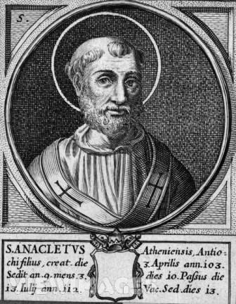 Papa São Anacleto I, sucessor de São Lino