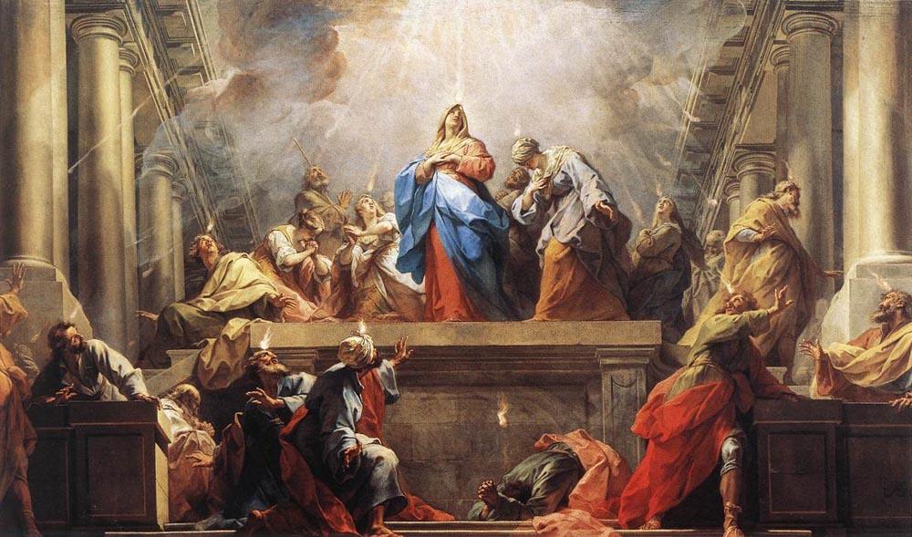 Pentecostes, a descida do Espírito Santo