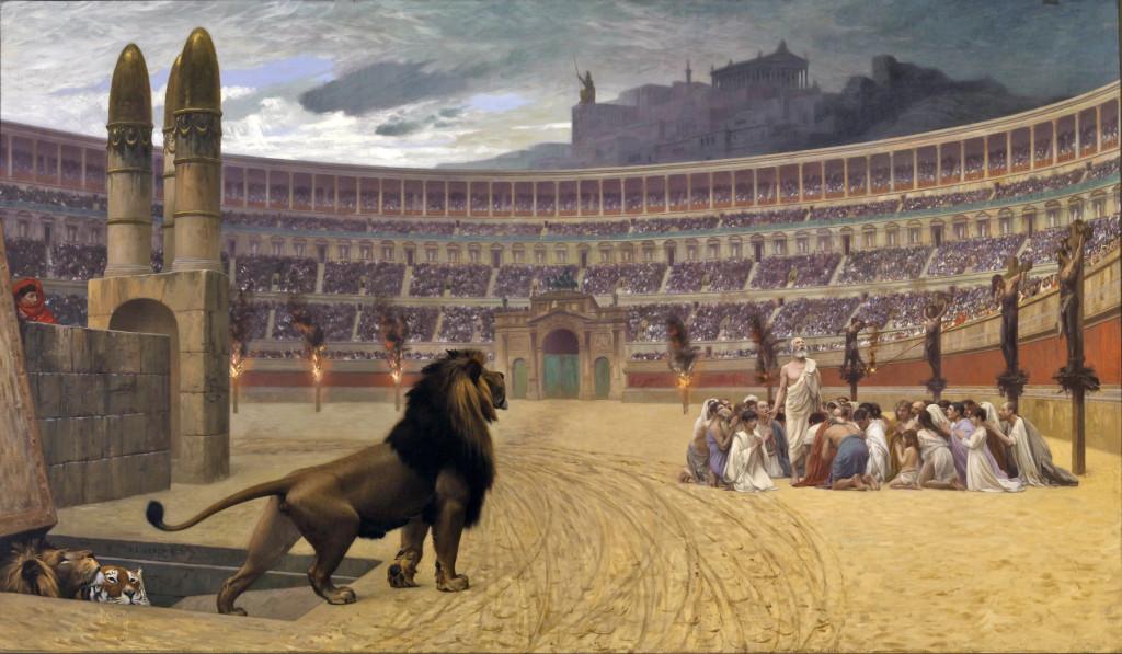 Perseguição aos Cristãos pelo Imperador Nero (Jean-Léon Gérôme (1824–1904)