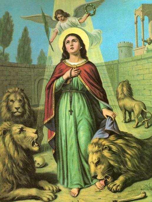 Santa Tecla, primeira mulher que ganhou a palma do martírio