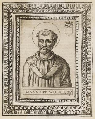 Papa São Lino I, primeiro sucessor de São Pedro