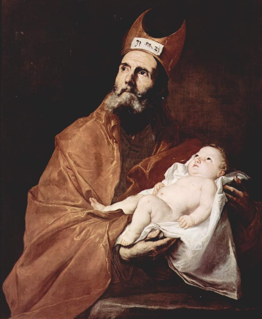 São Simeão de Jerusalém segurando o Menino Jesus