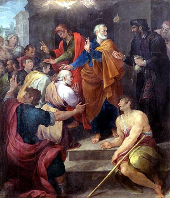 Conflito entre São Pedro e Simão Mago, por Avanzino Nucci, 1620