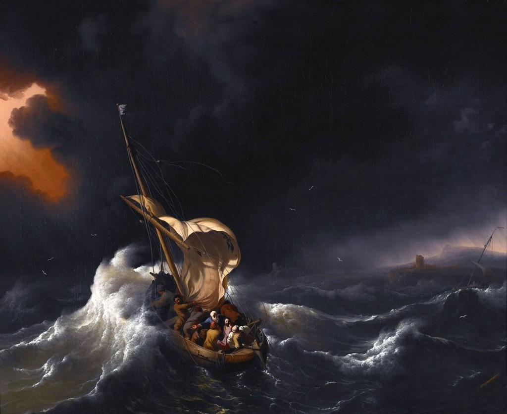 Cristo na Tempestade de GalileeLudolf Backhuysen, 1695