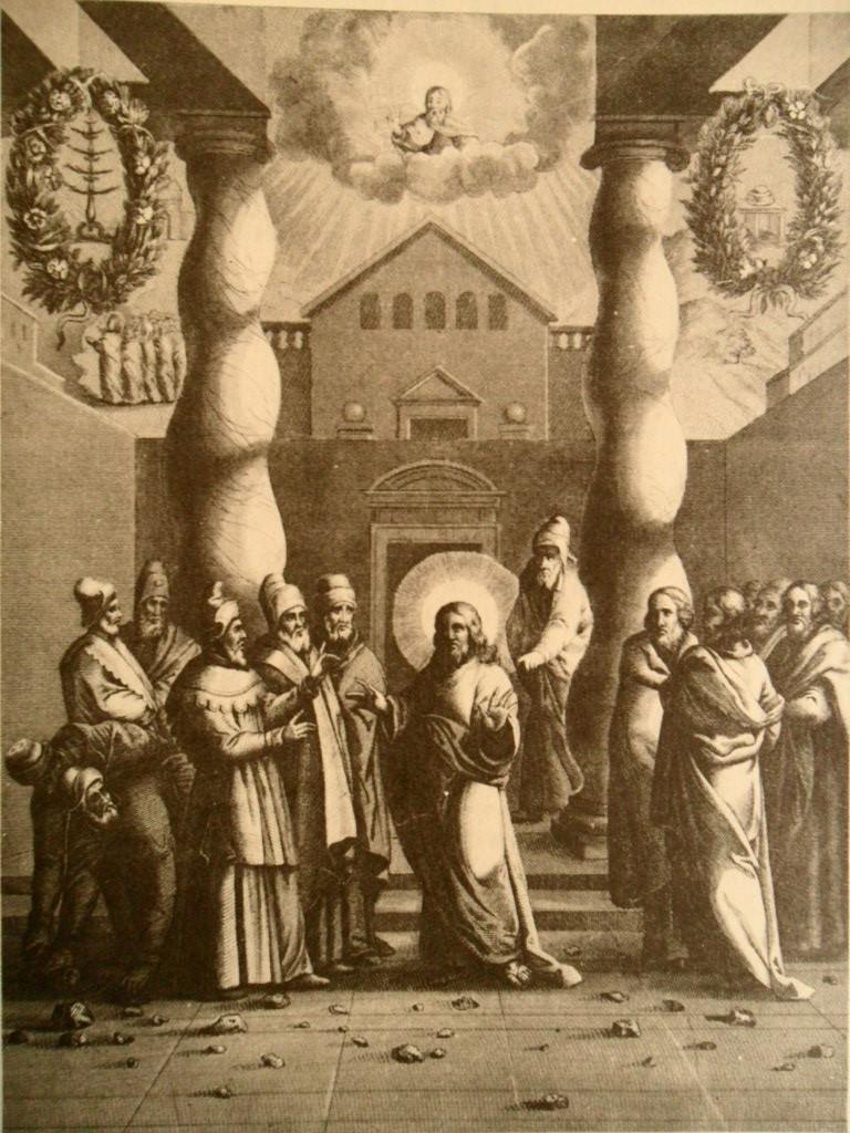 """Jesus aos judeus: """"Quem de vós poderá acusar-me de pecado?"""" (Jo 8, 46)"""