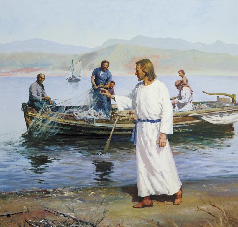 """A pesca milagrosa e o chamado de Cristo para que sejam """"Pescadores de Homens"""""""