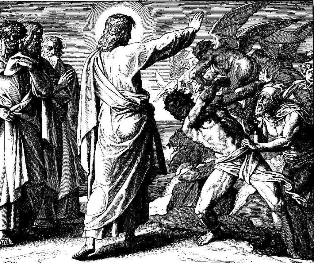 Jesus expulsa um demônio que era mudo