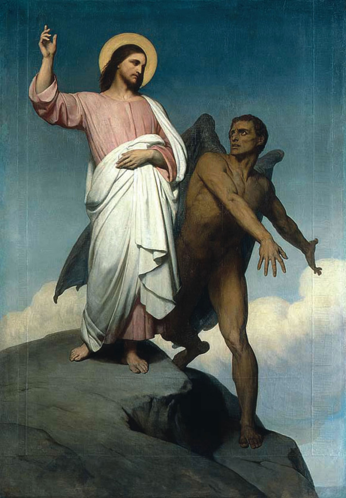 Jesus é tentado pelo demônio no Deserto