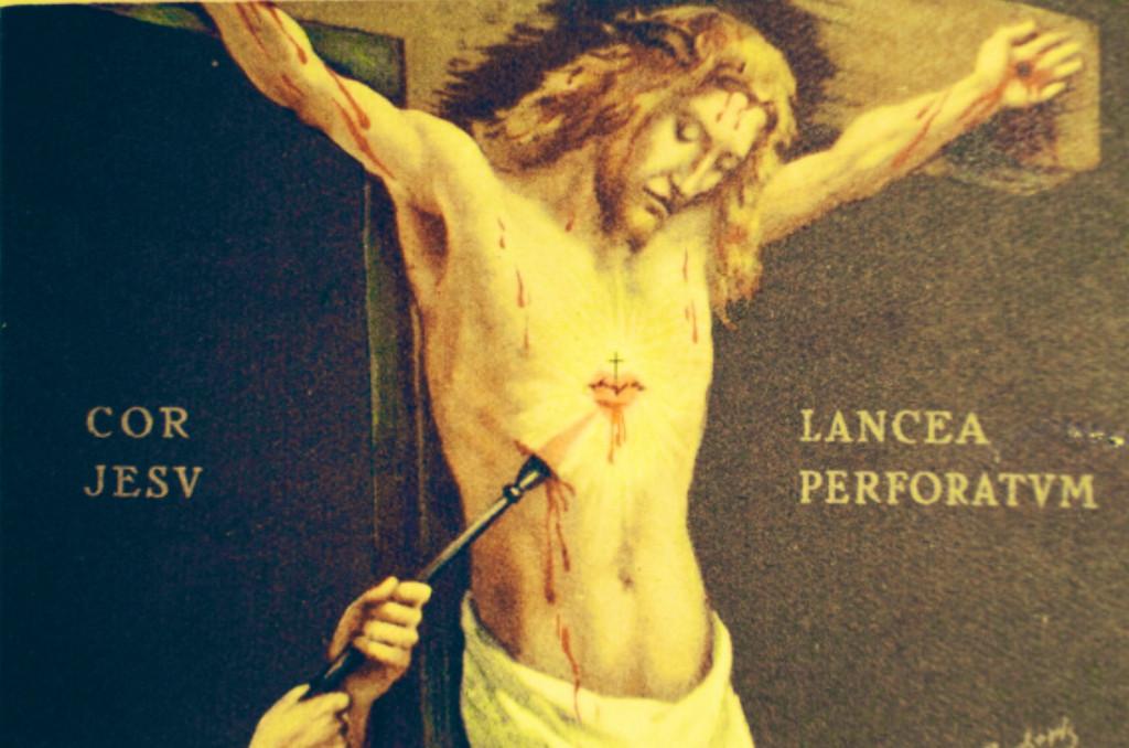 Jesus ferido pela Lança