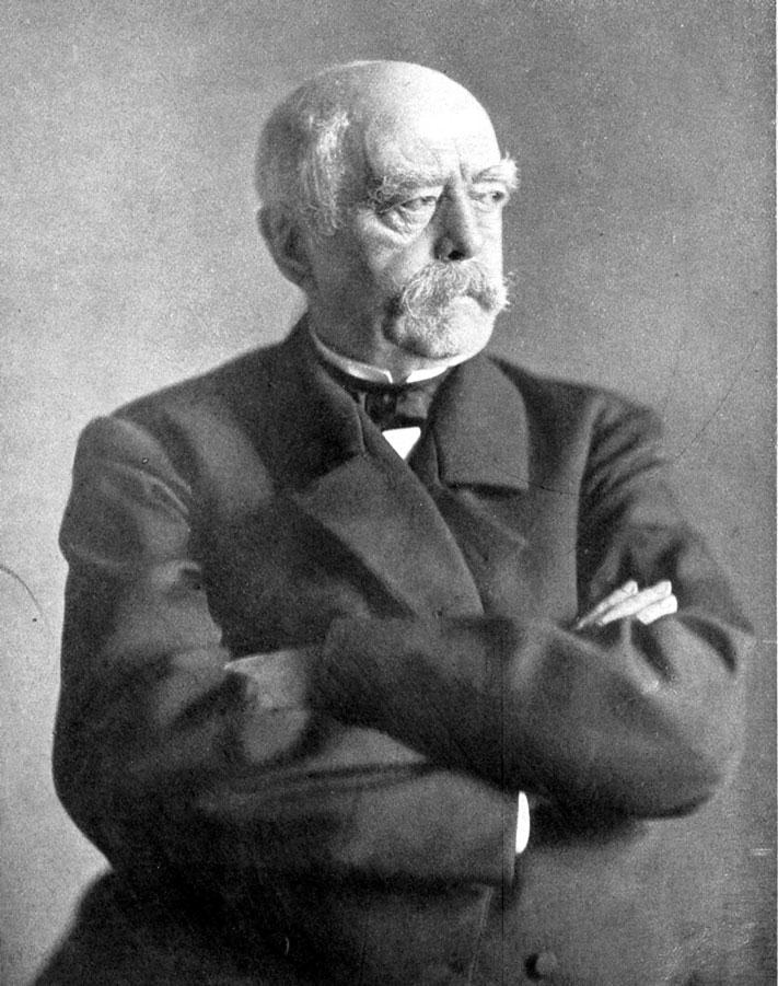 Otto Von Bismarck, iniciador da Kulturkampf (luta pela cultura): um movimento anticlerical alemão do século XIX
