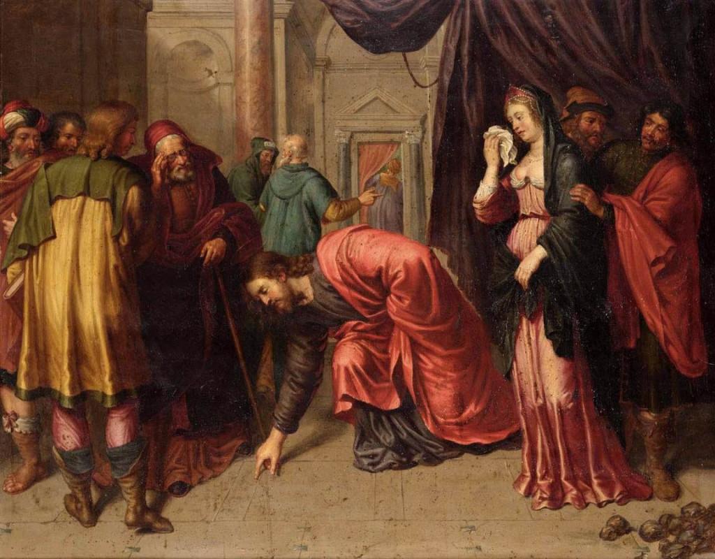 Jesus e a adúltera perdoada