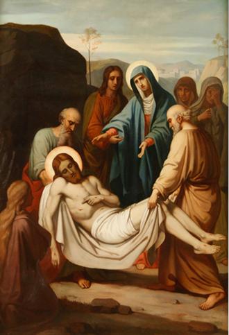 14ª Estação: Jesus é depositado no sepulcro