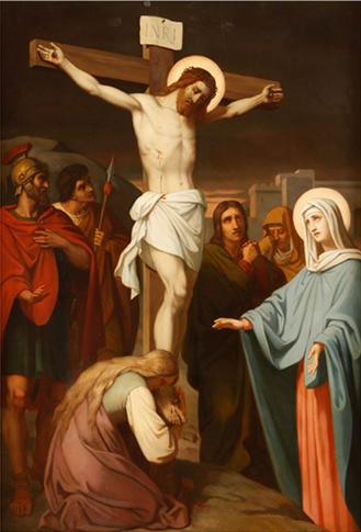 12ª Estação: Jesus morre na Cruz