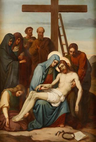 6ª Dor de Maria: Jesus é descido da cruz   Rumo à Santidade