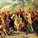 Jesus faz a sua entrada triunfal em Jerusalém