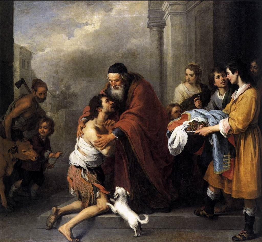 O Retorno do Filho Pródigo (Rembrandt 1667-70)