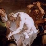 Jesus preso à coluna e flagelado