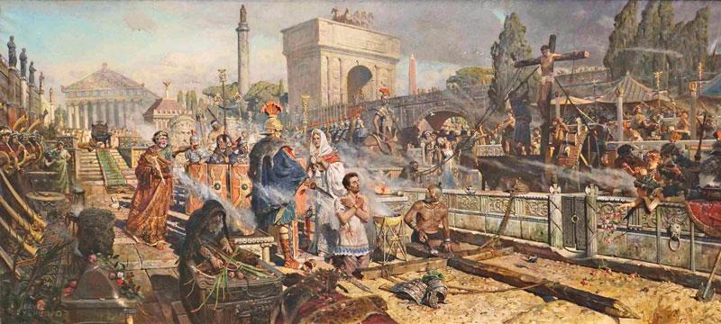 Início da perseguição contra os cristãos por Nero