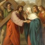 Quarta Dor de Maria Santíssima – Encontro com Jesus, que carrega a cruz