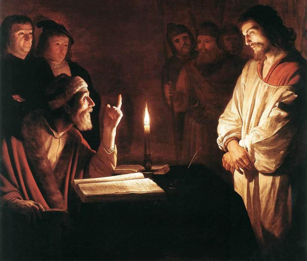 Jesus é levado à Caifás