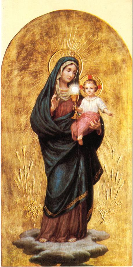Maria e Jesus Eucarístico