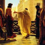 Jesus, condenado à morte, leva a sua cruz ao Calvário