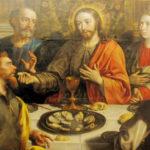 Última ceia de Jesus Cristo com os seus discípulos