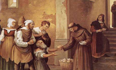 Santo Antônio de Pádua repartindo o pão