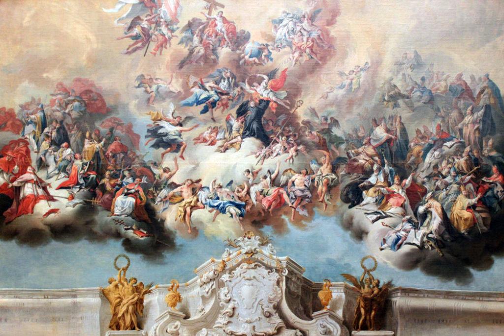 São Benedito na glória do Céu (Zeiller 1748)