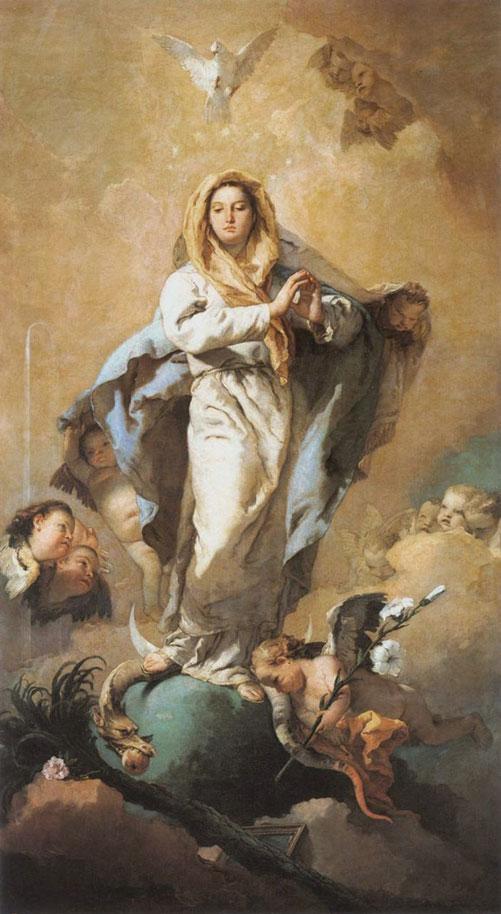 Virgem Maria pisando na cabeça da serpente