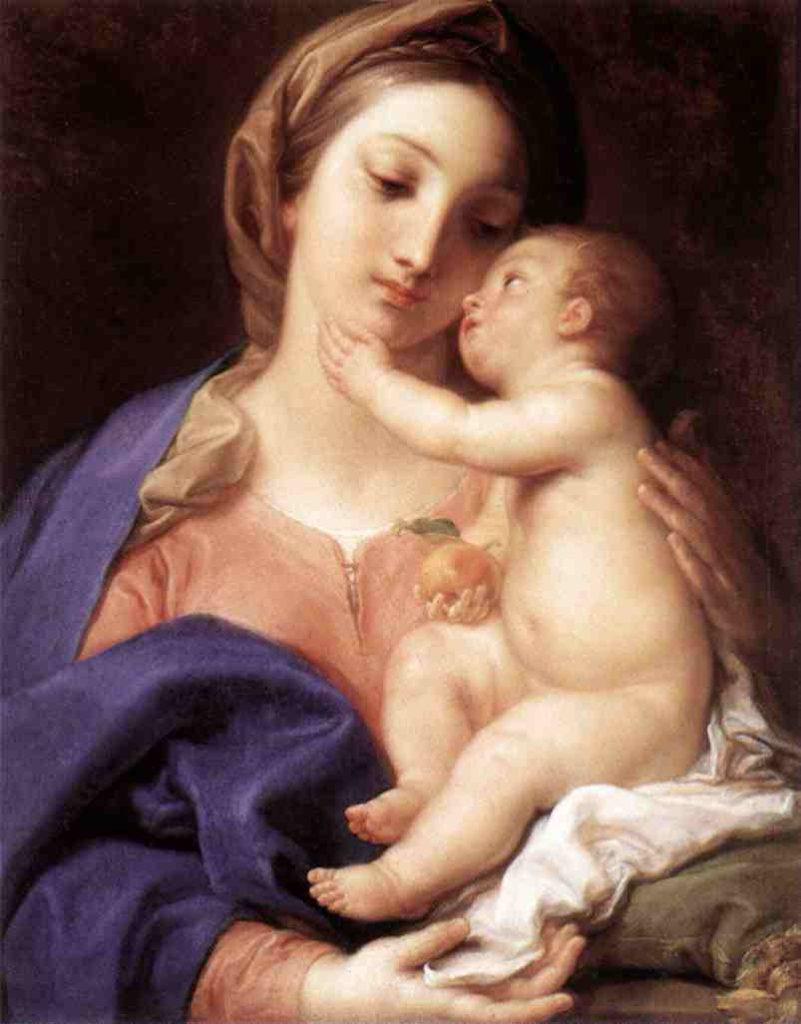 Maria e menino Jesus (Pompeo Baton)