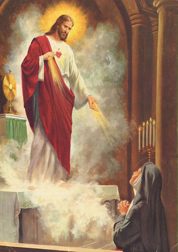 Coração de Jesus apresentado à Santa Margarida Maria