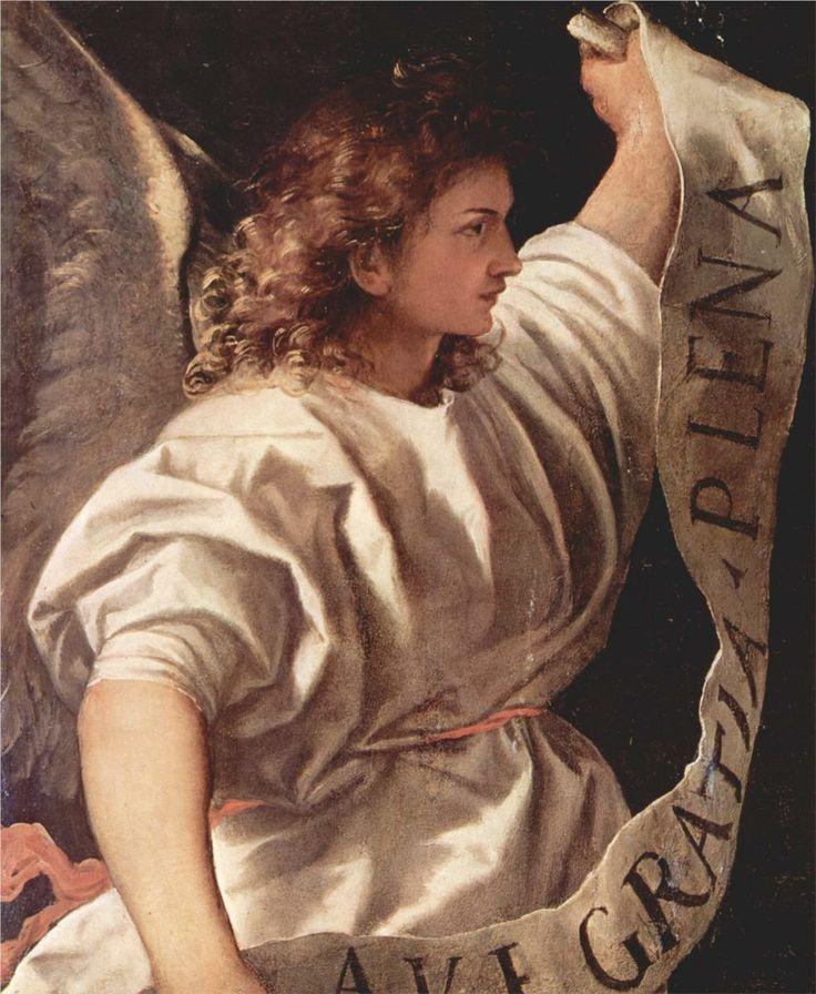 Ave Gratia Plena (Saudação do Anjo, 1520-1522 Titian)