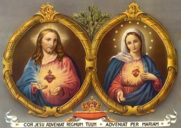 Sagrado Coração de Jesus e o Imaculado Coração de Maria