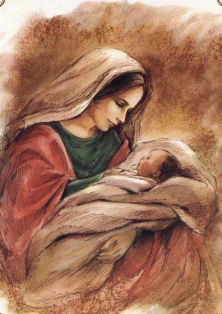 Virgem Maria e o Menino Jesus