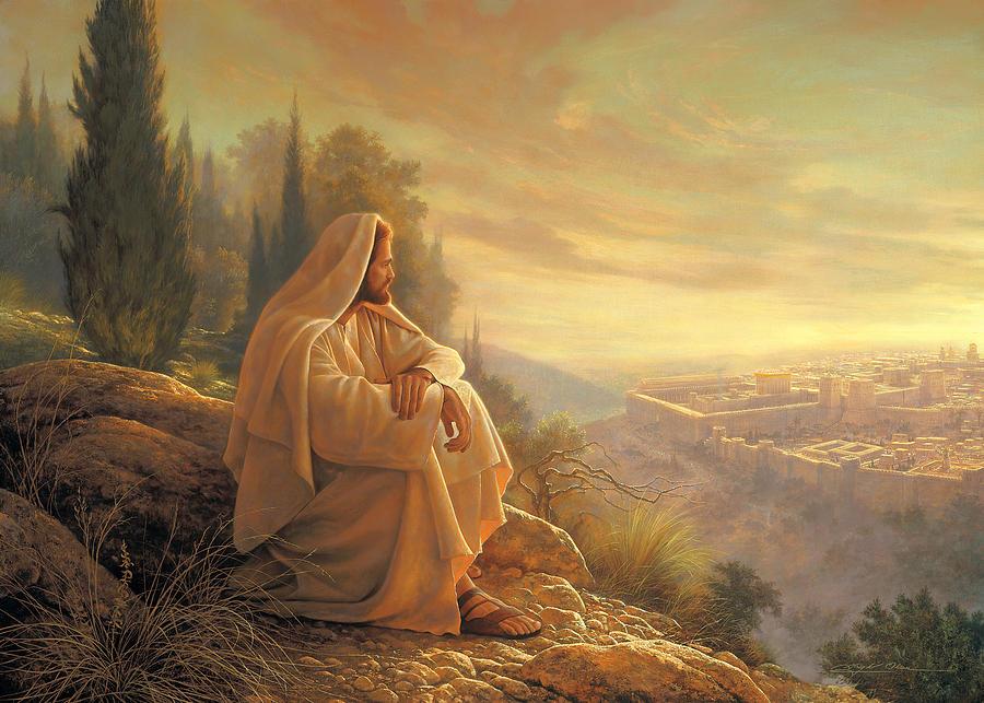 Cristo olhando para Jerusalém