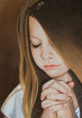 Menina rezando