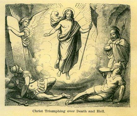 Cristo triunfando sobre a morte e o inferno