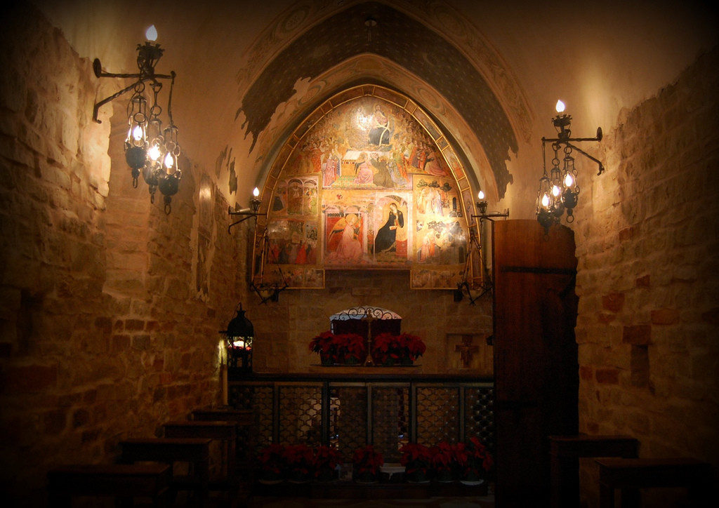 Interior da Igreja de Igreja de Porciúncula