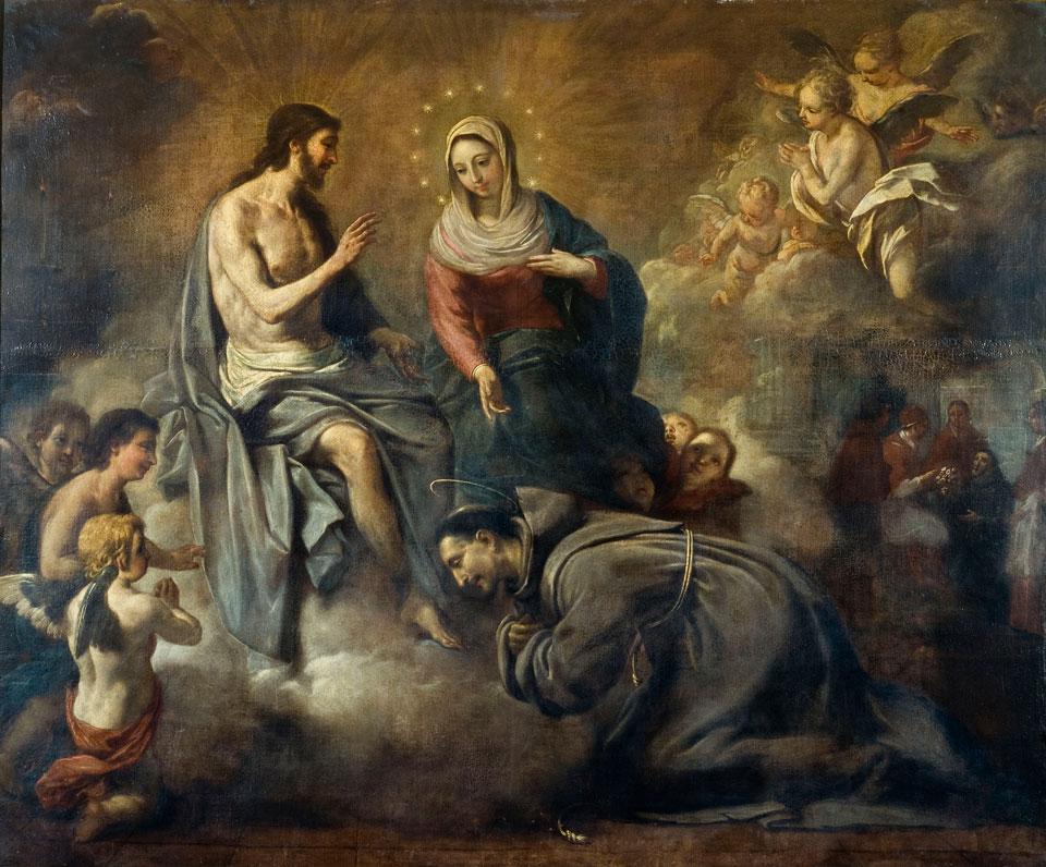 Jesus concedendo a Indulgência à São Francisco de Assis
