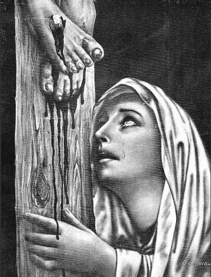 Resultado de imagem para maria aos pés da cruz