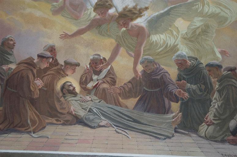 Morte de São Francisco, por Dominico Bruschi