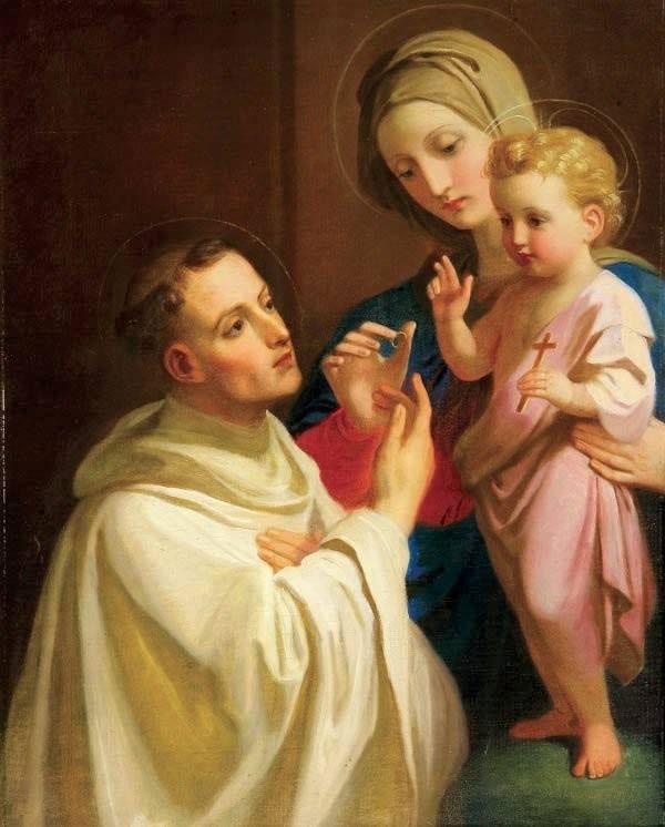 Nossa Senhora e o Menino Jesus e São Bernardo